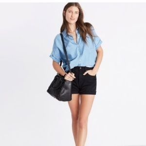 Madewell Indigo Courier Chambray Button Down Shirt
